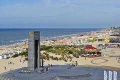 Η βελγική ακτή το καλοκαίρι σε de Panne, Βέλγιο Στοκ Εικόνες