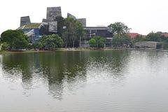 Η βιβλιοθήκη του πανεπιστημίου της Ινδονησίας, Depok, δυτική Ιάβα Στοκ εικόνες με δικαίωμα ελεύθερης χρήσης