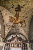 Η βιβλιοθήκη Archiginnasio της Μπολόνιας Στοκ Φωτογραφία