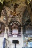 Η βιβλιοθήκη Archiginnasio της Μπολόνιας Στοκ Φωτογραφίες