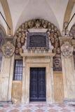 Η βιβλιοθήκη Archiginnasio της Μπολόνιας Στοκ εικόνα με δικαίωμα ελεύθερης χρήσης