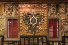 Η βιβλιοθήκη Archiginnasio της Μπολόνιας Στοκ φωτογραφία με δικαίωμα ελεύθερης χρήσης