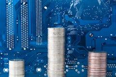 η βιομηχανία κάνει την τεχνολογία χρημάτων Στοκ εικόνα με δικαίωμα ελεύθερης χρήσης
