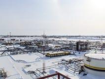 Η βιομηχανική δυνατότητα της εταιρείας πετρελαίου Εξοπλισμός πετρελαιοφόρων περιοχών Βιομηχανική υποδομή πετρελαίου και φυσικού α Στοκ Εικόνα
