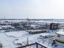 Η βιομηχανική δυνατότητα της εταιρείας πετρελαίου Εξοπλισμός πετρελαιοφόρων περιοχών Βιομηχανική υποδομή πετρελαίου και φυσικού α Στοκ Εικόνες