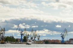 Η βιομηχανική περιοχή της πόλης Στοκ Φωτογραφίες