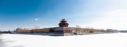 Η βορειοδυτική γωνία του απαγορευμένου παλατιού, Πεκίνο, Κίνα Στοκ Φωτογραφία
