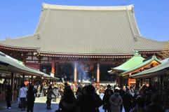 η βουδιστική λάρνακα sensoji asakusa Στοκ Εικόνες