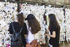 Η Βουλή της μητέρας του Θεού στην Τουρκία, που επισκέπτεται από όλο τον κόσμο από τους προσκυνητές με τα αιτήματα για τη βοήθεια Στοκ Εικόνες