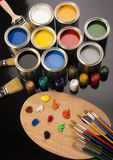 η βούρτσα μπορεί να χρωματίσει Στοκ Εικόνα