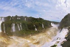 Η βραζιλιάνα πλευρά του Iguazu πέφτει Στοκ Φωτογραφία