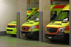 Η βραδινή βάρδια: Υπηρεσία Ασθενοφόρων Οχημάτων Στοκ Εικόνα