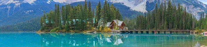 η βρετανική σμαραγδένια λίμνη του Καναδά Κολούμπια εντόπισε το εθνικό yoho πάρκων Στοκ εικόνες με δικαίωμα ελεύθερης χρήσης