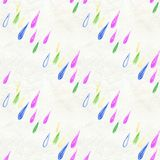 Η βροχή Coloful ρίχνει το άνευ ραφής σχέδιο Στοκ Φωτογραφία