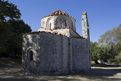 Η βυζαντινή εκκλησία Άγιου Βασίλη σε Fountoukli Στοκ φωτογραφία με δικαίωμα ελεύθερης χρήσης