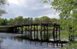 Η βόρεια γέφυρα σύνδεσε τα πεδία μάχες στο μικρό εθνικό πάρκο ατόμων στοκ φωτογραφία με δικαίωμα ελεύθερης χρήσης