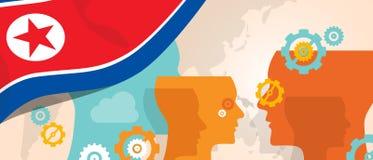 Η Βόρεια Κορέα ή η δημοκρατική έννοια Δημοκρατίας ανθρώπων s της Κορέας της αυξανόμενης καινοτομίας σκέψης συζητά το μελλοντικό ε απεικόνιση αποθεμάτων