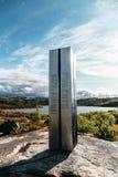 Η βόρεια Νορβηγία, σε Bjornfell κοντά στον οικότροφο στη Σουηδία είναι το μνημείο για τους γιουγκοσλαβικούς φυλακισμένους που πέθ Στοκ Φωτογραφίες