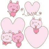 Η γάτα με αγαπά κάρτα Στοκ Φωτογραφίες