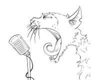 Η γάτα φωνάζει Στοκ Εικόνα