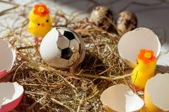 Η γέννηση μιας σφαίρας ποδοσφαίρου Στοκ φωτογραφία με δικαίωμα ελεύθερης χρήσης