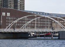 Η γέφυρα Άμστερνταμ Blauwehoofdbrug οι Κάτω Χώρες Στοκ Φωτογραφία