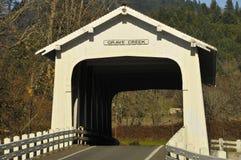 η γέφυρα κάλυψε ιστορικό Στοκ Εικόνες