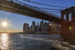 η γέφυρα Μπρούκλιν χαμηλών&epsil Στοκ Εικόνες