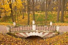 Η γέφυρα πετρών σε Tsaritsyno, Μόσχα, Ρωσία Στοκ Εικόνες