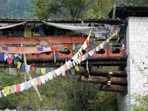 η γέφυρα που καλύπτεται την προσευχή σημαιοστολίζει στοκ φωτογραφία με δικαίωμα ελεύθερης χρήσης