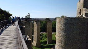 Η γέφυρα πρόσβασης σε ένα φρούριο Στοκ Φωτογραφίες
