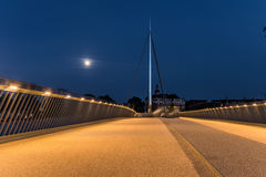 Η γέφυρα πόλεων στη Οντένσε, Δανία Στοκ Εικόνα