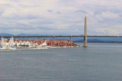 Η γέφυρα πόλεων του Stavanger, Stavanger, Νορβηγία Στοκ φωτογραφία με δικαίωμα ελεύθερης χρήσης
