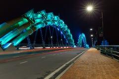 Η γέφυρα δράκων στη DA Nang Στοκ Φωτογραφίες