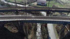 Η γέφυρα σε Volovechchina είδε τρεις αιώνες απόθεμα βίντεο