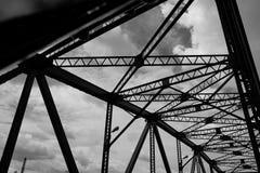 Η γέφυρα σιδήρου στη Μπανγκόκ, Ταϊλάνδη Στοκ Φωτογραφία