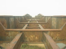 Η γέφυρα σιδήρου Στοκ Εικόνες