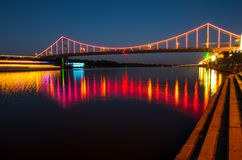 Η γέφυρα στα φω'τα Στοκ Εικόνα