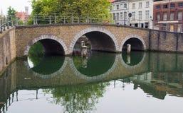 Η γέφυρα στη Μπρυζ Στοκ Φωτογραφία