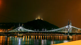 Γέφυρα ελευθερίας στη Βουδαπέστη Στοκ Φωτογραφία