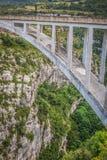 Η γέφυρα του ποταμού Artuby, φαράγγι Verdon, Γαλλία Στοκ Εικόνα
