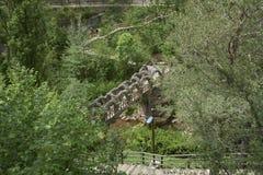 Η γέφυρα του Antoni Gaudà κήπων Artigas Στοκ φωτογραφίες με δικαίωμα ελεύθερης χρήσης