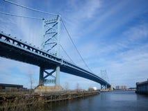 Η γέφυρα του Benjamin Franklin, Φιλαδέλφεια, ΗΠΑ Στοκ φωτογραφία με δικαίωμα ελεύθερης χρήσης