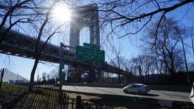 Η γέφυρα 116 του George Washington Στοκ φωτογραφία με δικαίωμα ελεύθερης χρήσης