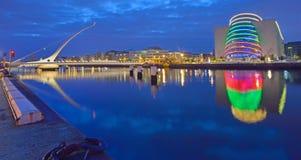 Η γέφυρα του Samuel Beckett στον ποταμό Liffey Στοκ Εικόνες