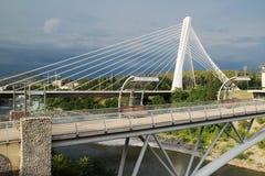 Η γέφυρα χιλιετίας σε Podgorica, Μαυροβούνιο Στοκ Φωτογραφίες