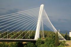 Η γέφυρα χιλιετίας σε Podgorica, Μαυροβούνιο Στοκ φωτογραφία με δικαίωμα ελεύθερης χρήσης