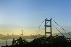 Η γέφυρα Χονγκ Κονγκ, αυτό είναι όμορφη γέφυρα Tsing μΑ στο Χονγκ Κονγκ Στοκ φωτογραφία με δικαίωμα ελεύθερης χρήσης