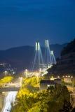 Η γέφυρα Χονγκ Κονγκ, αυτό είναι όμορφη γέφυρα Tsing μΑ στο Χονγκ Κονγκ Στοκ Εικόνα