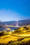 Η γέφυρα Χονγκ Κονγκ, αυτό είναι όμορφη γέφυρα Tsing μΑ στο Χονγκ Κονγκ Στοκ εικόνες με δικαίωμα ελεύθερης χρήσης